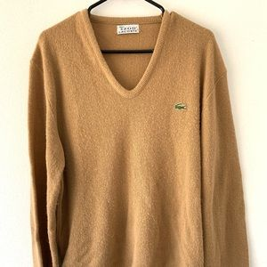 VTG LACOSTE WOMENS sweater tennis golf Large retro